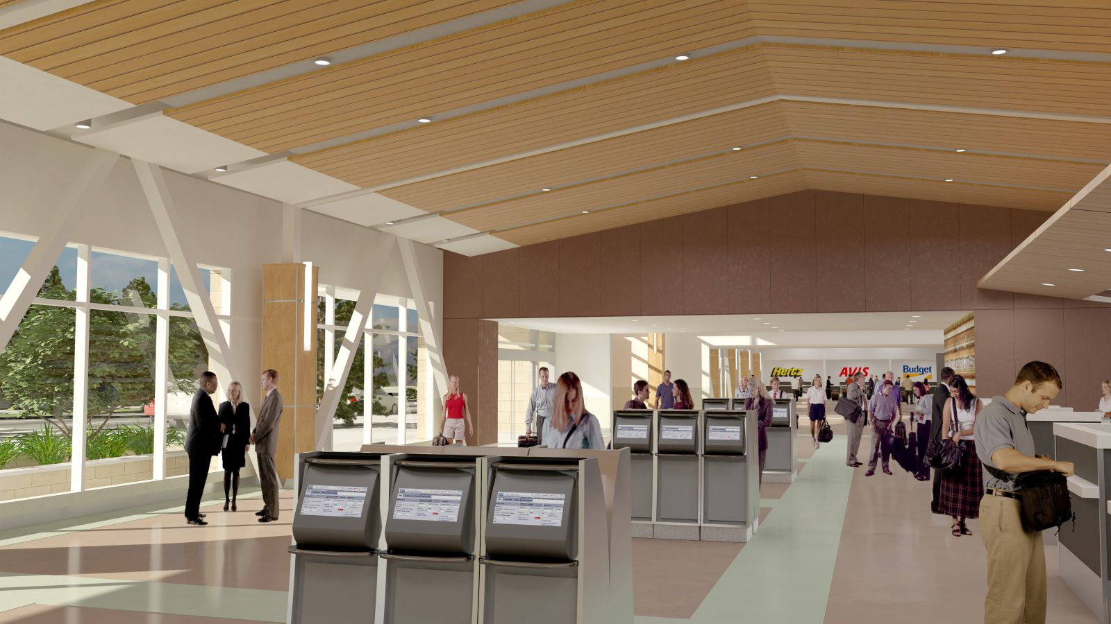 Mock up of inside the terminal
