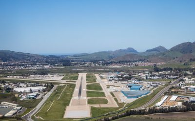 SBP Airfield overview from the sky on clear day